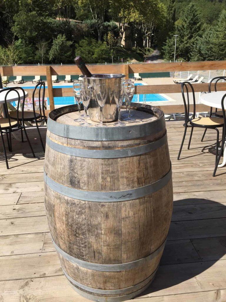 Restaurant bar campsite Rennes-les-Bains vignobles