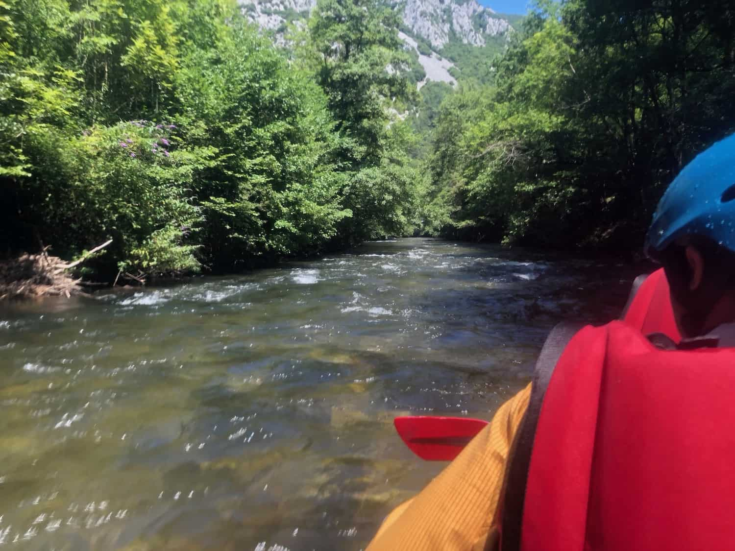canyoning river campsite Rennes-les-Bains
