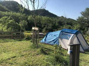 Electric grass pitches campsite Rennes-les-Bains