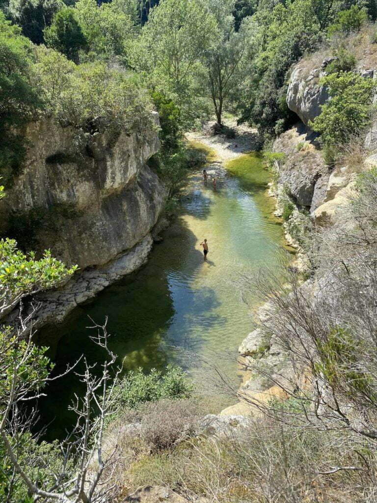 roman bridge river campsite Rennes-les-Bains