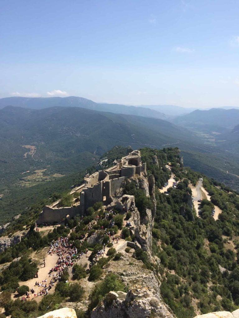 Castle cathare Peyrepertuse campsite Rennes-les-Bains