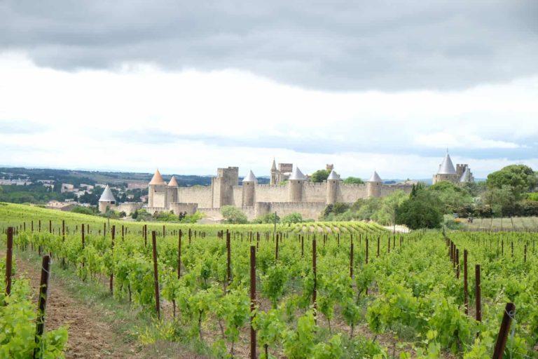 Carcassonne castle campsite La Bernede